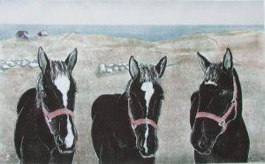 """Sandra Swan, """"Sprague Farm Horses"""""""