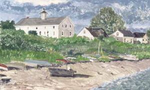 "Jessie Edwards, ""Back of the Narragansett Inn"""