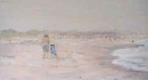 "Jessie Edwards, ""Crescent Beach in Fog"""