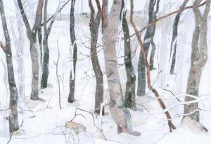 "Sandra Swan, ""Shad Tree Grove - Block Island"""