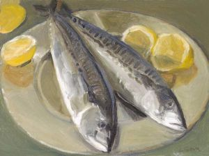 "Lorie Sava, ""Two Fish on a Plate"""
