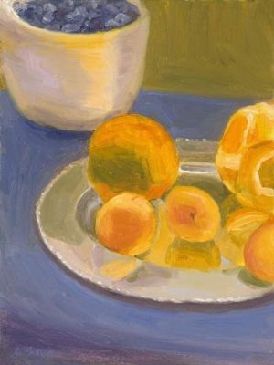 "Lorie Sava, ""Oranges and Blueberries"""