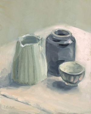 "Lorie Sava, ""Creamer and Sugar Bowl"""