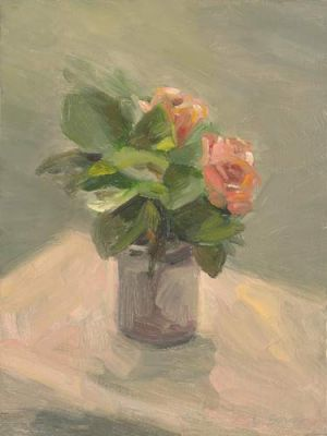 "Lorie Sava, ""Vase With Flowers"""