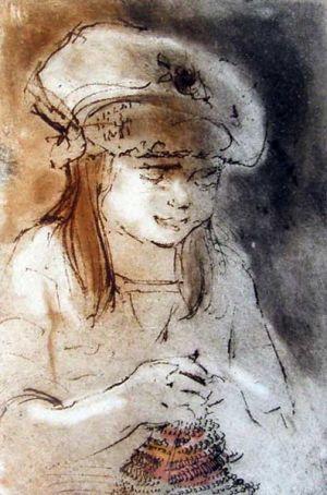 Helen Frank, 'The Knitter'