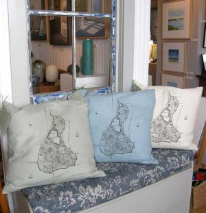 Block Island Pillow Maps