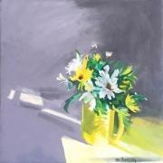 "Marilyn Bogdanffy, ""Flowers from Alice"",  oil on canvas, 20 x 20"", $1000.00"