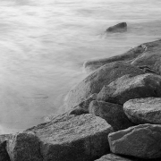 """James Duval, """"Water and Rocks I"""", photograph, 20 x 20"""",  $250.00"""