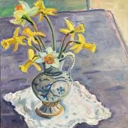 """Kate Knapp, """"Springtime Bouquet"""",  oil on canvas,  20 x 20"""", $1000.00"""