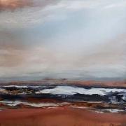 "Tom Martinelli, ""Breaking Sky"", oil on copper, 20 x 20"", $1200.00"