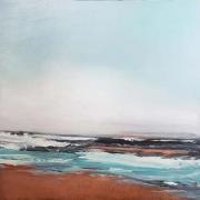 """Tom Martinelli, """"Shoreline"""", oil on copper, 20 x 20"""", $1200.00"""