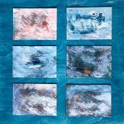 """Berke Marye, """"Albatross"""", acrylic on panel, $750.00"""