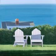"Heidi Palmer, ""Tete a Tete"", oil on canvas, 20 x 20"",  $4400.00"