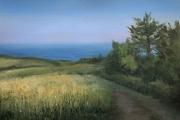 "Whitney Knapp Bowditch, Golden Hour, oil on paper,  10.25 x 14"", $1050.00"