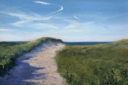 """Whitney Knapp Bowditch, Dunes, North Light,  oil on paper, 8.5 x 11.25"""", $825.00"""