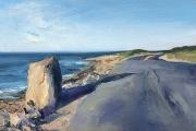 Whitney Knapp Bowditch, Settler's Rock, oil on paper, 7 x 11.25, $750.00