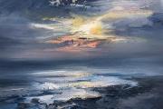 "Whitney Knapp Bowditch, Twilight Westside,  oil on paper,  8.25 x 11.25"", $800.00"