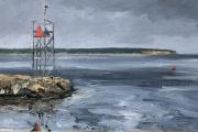 "Whitney Knapp Bowditch, Breakwater Old Harbor, 8.75 x 14.25"", 925.00"