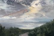 "Whitney Knapp Bowditch, Island Haze,  oil on cradled wood panel, 5 x 7"", $295.00"