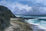 """Whitney Knapp Bowditch, Vaill Vista, oil on cradled  wood panel, 5 x 7"""" , $295.00"""