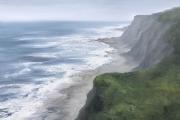 "Whitney Knapp Bowditch, Black Rock Beach,  oil on canvas,  30 x 40"", $3800.00"