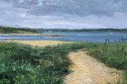 "Whitney Knapp Bowditch, Coast Guard Beach, oil on paper,  8.5 x 11"", $800.00"