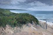 "Whitney Knapp Bowditch, West Beach,  oil on paper,  8.5 x 11.5"", $850.00"