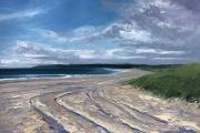 "Whitney Knapp Bowditch, Scotch Beach Tracks, oil on paper,  10.25 x 14.25"", $1075.00"
