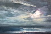 "Whitney Knapp Bowditch, ""Daybreak"" oil on cradled wood panel,  5 x 7"",  $295.00"