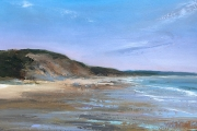 "Whitney Knapp Bowditch, ""Low Tide at East Beach"",  oil on paper, 8.5 x 14.25"", $925.00"