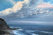 "Whitney Knapp Bowditch, ""East Breeze"", oil on cradled wood panel,  5 x 7"",  $295.00"