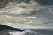 "Whitney Knapp Bowditch, ""Illuminated Cove"", oil on cradled wood panel, 5 x 7"",  $295.00"