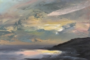 "Whitney Knapp Bowditch, ""Iridescence"", oil on cradled wood panel, 5 x 7"",  $295.00"