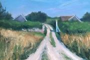 "Whitney Knapp Bowditch, ""Niles Spring Lane"", oil on paper, 8.25"" x 11.25"", $800.00"