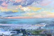 "Whitney Knapp Bowditch, ""Atlantic Twilight"", oil on cradled wood panel, 5 x 7"", $295.00"