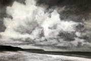 "Whitney Knapp Bowditch, ""Cumulus"", charcoal and pastel on paper, 14 x 17"", $750.00"