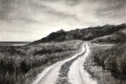 "Whitney Knapp Bowditch, ""Expedition"", charcoal and pastel on paper, 14 x 17"", $750.00"