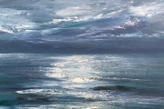 "Whitney Knapp Bowditch, ""Full Moon Tide"", oil on cradled wood panel, 8 x 10"", $700.00"