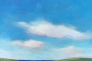 "Carrie Megan, ""Beach View"", 36 x 36"", oil on canvas,  $2700.00"