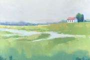"Carrie Megan, ""Serene Shelter"",  20 x 20"", oil on canvas, $900.00"
