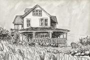 """Jessie Edwards, """"Avonlea"""", pen and ink, framed, $225.00"""