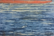 "Cynthia Guild, ""Coming Up the Bay"" oil on canvas, 24"" x 30"", $2,200.00"