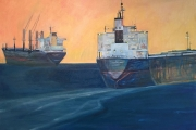 "Cynthia Guild, ""Going East, Going West ""oil on canvas, 30 x40"", $4,000.00"