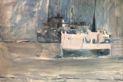 "Cynthia Guild, ""Lady of Mann"" oil on canvas, 20"" x 24"", $1,850.00"