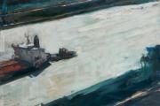 """Cynthia Guild, """"Slipping Through"""", oil on panel  24"""" x 32"""", $2,000.00"""
