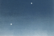 """Heidi Palmer, """"Night Sky"""", monotype,  8.5 x 6.5"""", $400.00"""