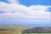 "Heidi Palmer, ""Noon, July"", oil on canvas, 14 x 20"", $3000.00"