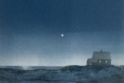 "Heidi Palmer, ""Orion's Belt"", monotype, 11.5 x 9"", $575.00"