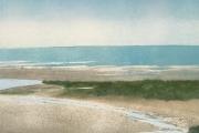"Heidi Palmer, ""Tidal Flats"",  monotype,  11.5 x 11.5"", $690.00"