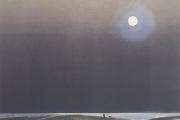 "Heidi Palmer, ""Walking The Dog"", monotype, 11 x 12"", $490.00"